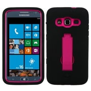 Insten® Symbiosis Stand Protector Cover For Samsung i800 ATIV S Neo; Hot-Pink/Black