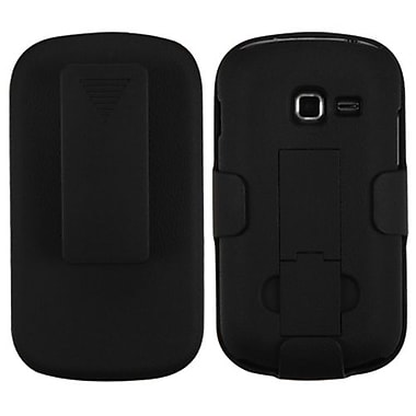 Insten® Rubberized Hybrid Holster For Samsung S738C, R740C, Black
