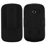 Insten® Rubberized Hybrid Holster For Samsung S738C, R740C, Black