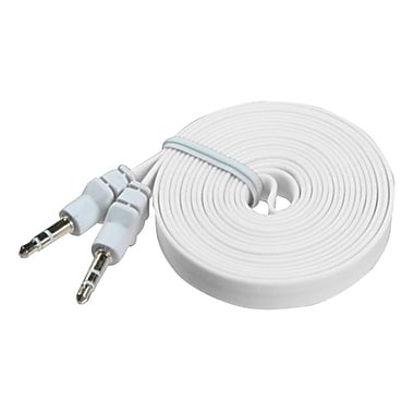 Insten® 6' Noodle Audio Cables With 3.5 to 3.5 Plug, White