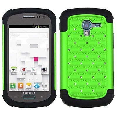 Insten® Lattice Dazzling Protector Case F/Samsung T599 Galaxy Exhibit, Pearl Green/Black