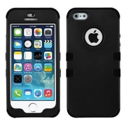 Insten® TUFF Hybrid Rubberized Phone Protector Cover F/iPhone 5/5S, Black