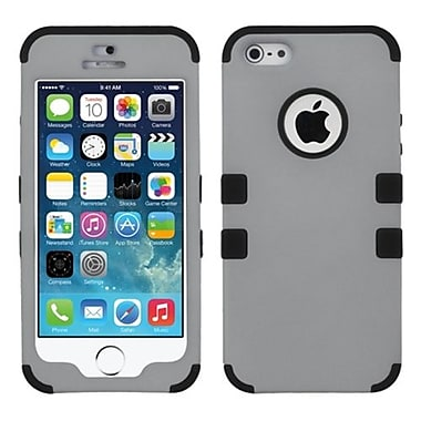 Insten® TUFF Hybrid Rubberized Phone Protector Cover F/iPhone 5/5S, Gray/Black