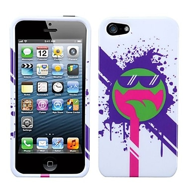 Insten® Phone Protector Cover F/iPhone 5/5S, Hipster Tripster All Smiles