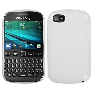 Insten Rubberized Candy Skin Cover For BlackBerry 9720, Semi Transparent White (1591725)