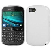 Insten® Rubberized Candy Skin Cover For BlackBerry 9720, Semi Transparent White