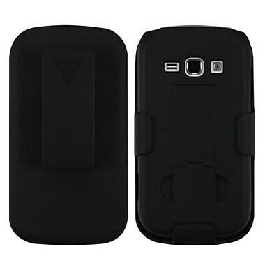 Insten® Rubberized Hybrid Holster For Samsung M840, Black