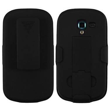 Insten® Rubberized Hybrid Holster With Stand For Samsung T599 Galaxy Exhibit, Black