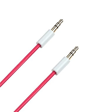 Insten® 4' Audio Cable With 3.5mm Mini Plug, Red