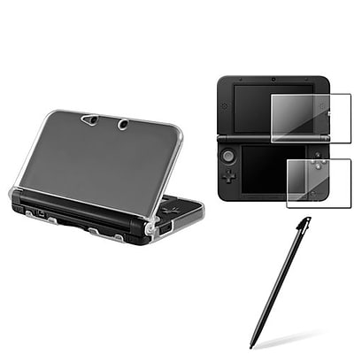 Insten® 1629674 3-Piece Game Screen Protector Bundle For Nintendo 3DS XL/LL
