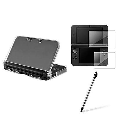 Insten® 1629676 3-Piece Game Screen Protector Bundle For Nintendo 3DS XL/LL