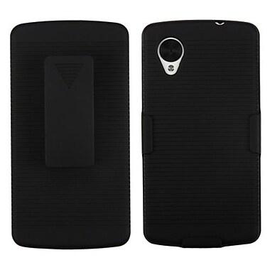 Insten® Hybrid Holster For LG D820 Nexus 5, Black