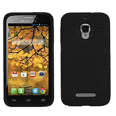Insten® Astronoot Phone Protector Case For Alcatel 7024W, Black/Black