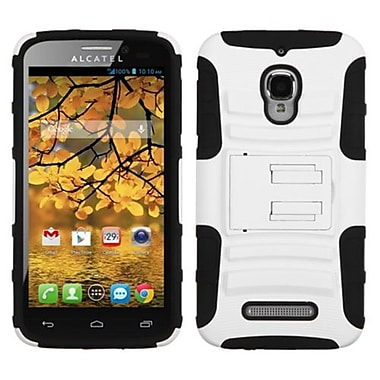 Insten® Advanced Armor Stand Protector Case For Alcatel 7024W, White/Black