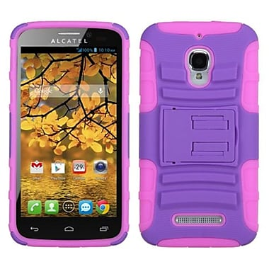 Insten® Advanced Armor Stand Protector Case For Alcatel 7024W, Purple/Electric Pink