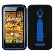 Insten® Symbiosis Stand Protector Case For Alcatel 7024W, Dark Blue/Black