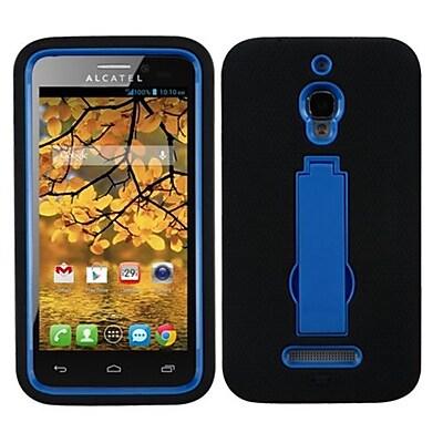 Insten® Symbiosis Stand Protector Case For Alcatel 7024W; Dark Blue/Black