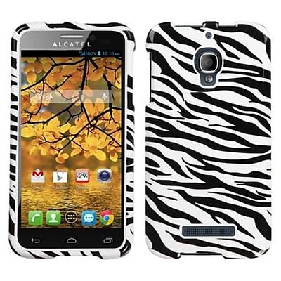 Insten® Phone Protector Case For Alcatel 7024W One Touch Fierce, Zebra Skin