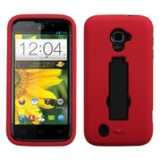Insten® Symbiosis Stand Protector Case For ZTE Z796C, Black/Red