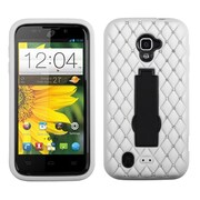 Insten® Symbiosis Stand Protector Case For ZTE N9511 Source, Black/White