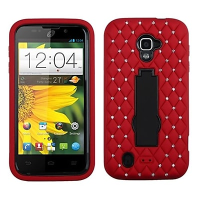 Insten® Symbiosis Stand Protector Case For ZTE N9511 Source/Z796C Majesty; Black/Red