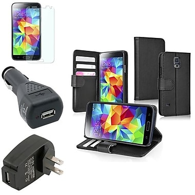 Insten® 1792496 4-Piece Car Charger Bundle For Samsung Galaxy S5/SV