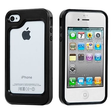 Insten® MyBumper Phone Protector Case F/iPhone 4/4S, Black/Solid Black