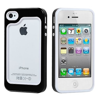 Insten® MyBumper Phone Protector Case F/iPhone 4/4S, White/Solid Black