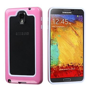 Insten® MyBumper Phone Protector Case For Samsung Galaxy Note 3, White/Solid Pink