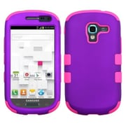 Insten® TUFF Hybrid Phone Protector Case For Samsung T599 Galaxy Exhibit, Grape/Electric Pink