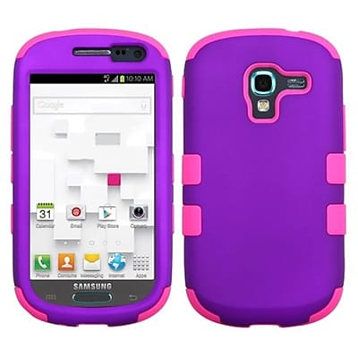Insten® TUFF Hybrid Phone Protector Case For Samsung T599 Galaxy Exhibit; Grape/Electric Pink