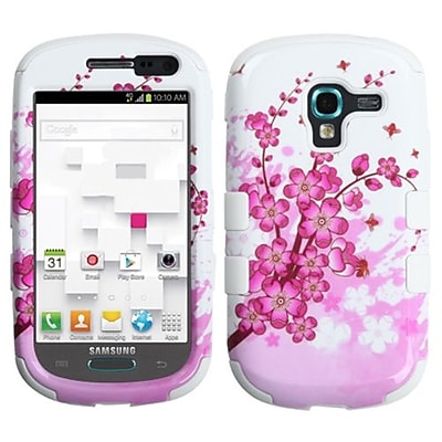 Insten® Hybrid Protector Case For Samsung T599 Galaxy Exhibit; Spring Flowers/Solid White