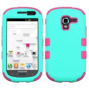 Insten® TUFF Hybrid Phone Protector Case For Samsung T599 Galaxy Exhibit, Teal Green/Electric Pink