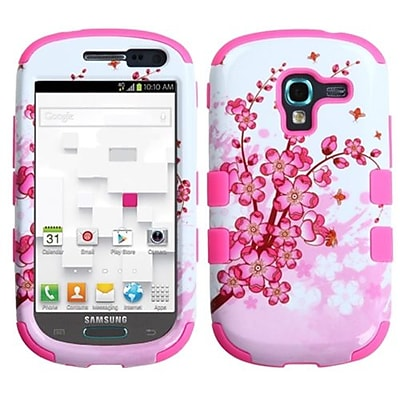 Insten® Hybrid Protector Case For Samsung T599 Galaxy Exhibit; Spring Flowers/Electric Pink