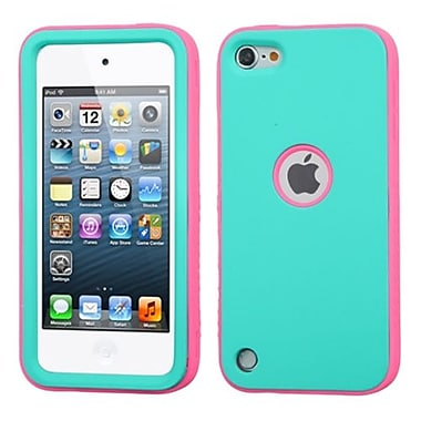 Insten® VERGE Hybrid Protector Cover For iPod Touch 5th Gen, Teal Green/Lightning Electric Pink