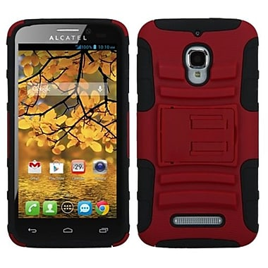 Insten® Advanced Armor Stand Protector Case For Alcatel 7024W, Red/Black