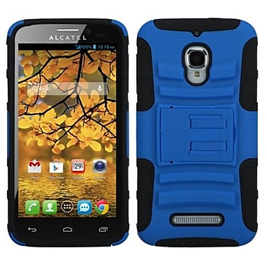 Insten® Advanced Armor Stand Protector Case For Alcatel 7024W, Dark Blue/Black