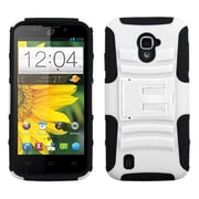 Insten® Advanced Armor Stand Protector Case For ZTE Z796C Majesty; White/Black