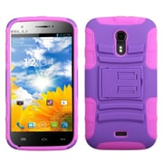Insten® Advanced Armor Stand Protector Case For BLU D530 Studio 5.0, Purple/Electric Pink