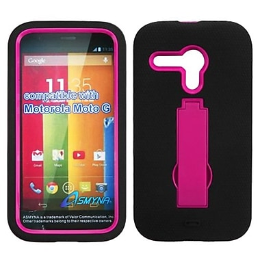 Insten® Symbiosis Stand Protector Case For Motorola G, Hot-Pink/Black