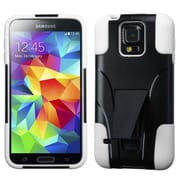 Insten® Advanced Armor Stand Protector Case For Samsung Galaxy S5, White Inverse