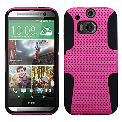 Insten® Protector Case For HTC-One M8; Hot-Pink/Black Astronoot