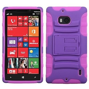 Insten® Advanced Armor Stand Protector Case For Nokia Lumia Icon 929, Purple/Electric Pink