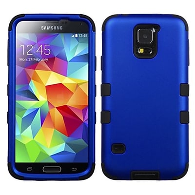 Insten® TUFF Hybrid Phone Protector Case F/Samsung Galaxy S5; Titanium Dark Blue/Black