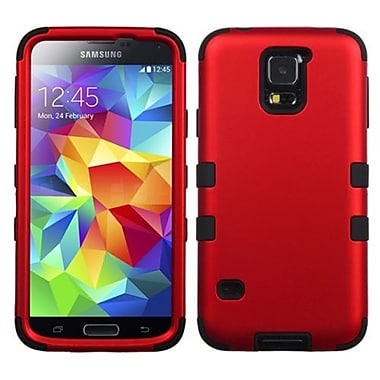 Insten® TUFF Hybrid Phone Protector Case F/Samsung Galaxy S5, Titanium Red/Black