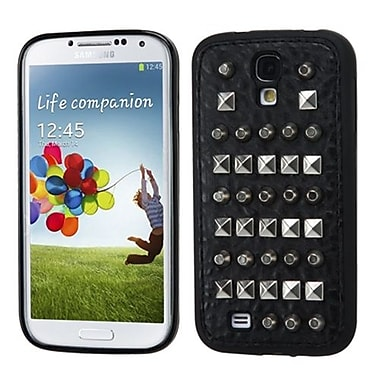 Insten® Candy Skin Case With Leather Backing For Samsung Galaxy S4, Black/Black