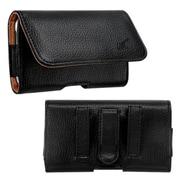 Insten® Horizontal Pouch For ZTE N9500/Z750C, (2912) Black/Brown Textured