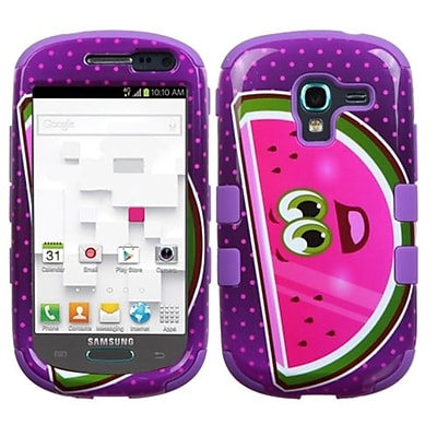 Insten® Hybrid Protector Case For Samsung T599 Galaxy Exhibit; Watermelon/Electric Purple