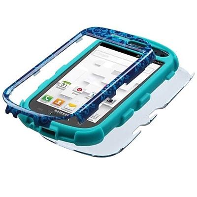 Insten® Hybrid Protector Case For Samsung T599 Galaxy Exhibit; Purple/Blue Damask/Black
