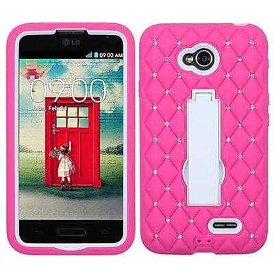 Insten® Symbiosis Stand Protector Cover For LG VS450PP/MS323, White/Hot-Pink